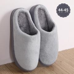 纯色珊瑚绒棉拖鞋 44-45灰色 见详情