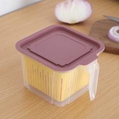 冰箱收纳盒8018带沥水   60个/箱 粉色 见详情