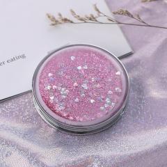 圆形流沙化妆镜  360个/箱 粉色 见详情
