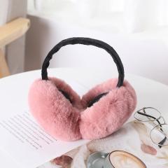 大兔毛 折叠耳罩   120个/箱 皮粉色 见详情