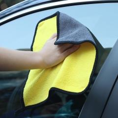 双面擦车毛巾黄色 30*30