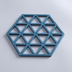 六边形隔热三角垫  800/件 湛蓝色 见详情