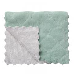 双面印花洗碗巾 抹布 单片27*15  (1000包/箱)包 灰绿 如详情所示
