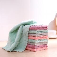 双面印花双色洗碗巾 抹布27*15  (10片/包 200包/箱)包