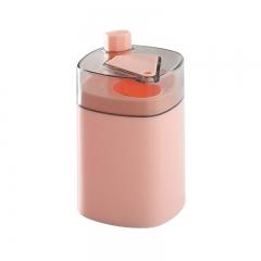 自动弹牙签筒 粉色 详情