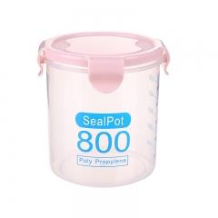 透明密封罐 储物罐800ml (120个/箱)个 800ml北欧粉 见详情