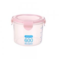 透明密封罐 储物罐600ml  (168个/箱)个 600ml北欧粉 见详情