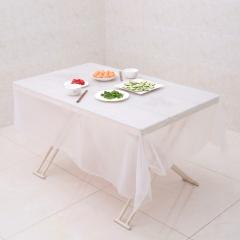 一次性加厚桌布20*20白色(50包/箱)包 白色 200cm*200cm