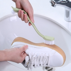 素色双头长柄鞋刷  (500个/箱)个 绿色 见详情图