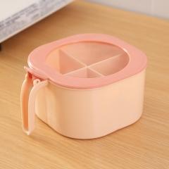 四格一体带盖调味盒  (54个/箱)个 米红 见详情