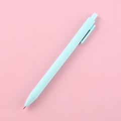 马卡龙五色速干按动中性笔 0.5mm子弹头彩色笔芯书写签字笔(5000支/箱)支 天蓝 见详情