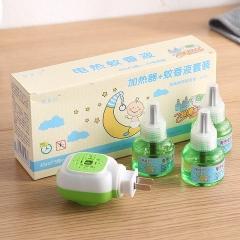 盛夏专属  驱蚊液蚊香液1器+3液套装(60盒/箱)盒