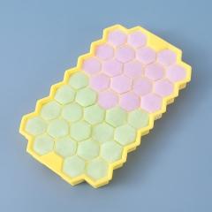 盛夏专属 37格蜂窝硅胶冰格带盖   100/箱 黄色 见详情