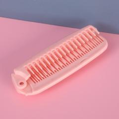 麦秆折叠旅行梳子两用梳   600/箱 粉色 见详情