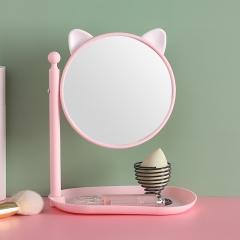 方底带螺帽卡通化妆镜538   60/箱 猫耳粉色 见详情
