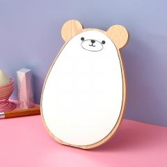 木质化妆镜印刷小熊 短耳小熊