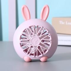 【专利产品】盛夏专属 萌宠桌面小风扇 粉色兔子 如图