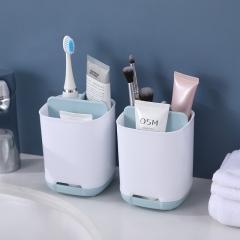 浴室沥水牙刷盒浅蓝(100盒/箱)-盒