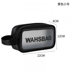 韩版防水化妆包 透明洗漱包小号 黑色 小号