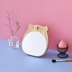木质化妆镜 萌趣小熊