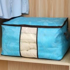 印花无纺布被子收纳袋-横款 200/箱 蓝色 见详情