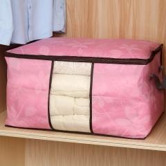 印花无纺布被子收纳袋-横款 200/箱 粉色 见详情