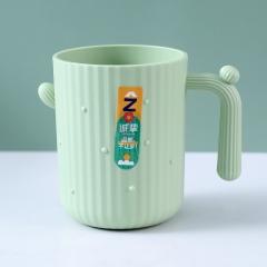 (专利产品)创意仙人掌漱口杯家用刷牙杯子情侣杯(175个/箱) 绿色 见详情