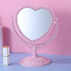 欧风台式双面化妆镜(60个/箱) 心形北欧粉 见详情