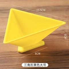 端午节包粽子模具 三角形大号 三角大号黄色 见详情
