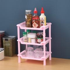 长方形款三层组合收纳架(48包/箱) 粉色 见详情