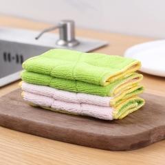 [特价清仓] 不沾油洗碗布双层抹布混色(600包/箱)包