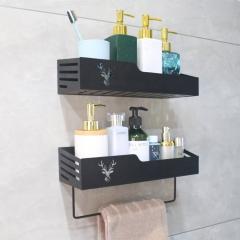 挂壁式铁艺置物架(不带毛巾杆)-鹿角 202107(20盒/箱)