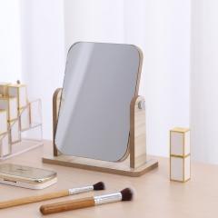 桌面木质化妆镜旋转化妆镜小号(48盒/箱)-盒