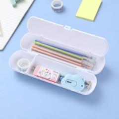 圆形塑料笔盒文具盒160/箱 白色 见详情