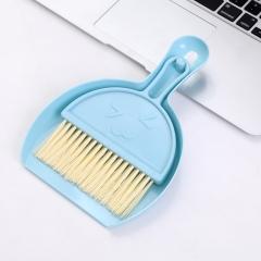 桌面迷你笑脸扫把键盘清洁刷2件套240/箱 蓝色 见详情