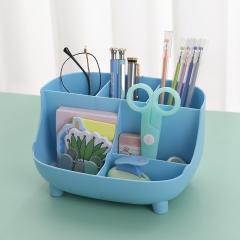桌面沙发形6格收纳盒化妆盒笔筒60/箱 北欧蓝 见详情