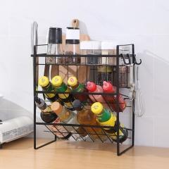 cy-0120厨房三层调料架10/箱 黑色 见详情