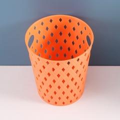 双耳桌面垃圾筒  240/箱 橘红 见详情