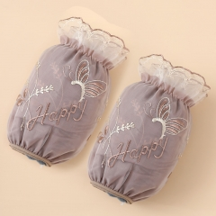 新款双层蕾丝袖套成人袖套12/包 720/箱 咖啡色 如详情所示