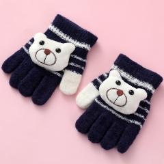 儿童卡通保暖手套12双/袋  720/箱 藏青 见详情