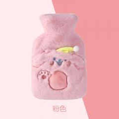布套毛绒热水袋21204  160/箱   500ml 粉色 见详情