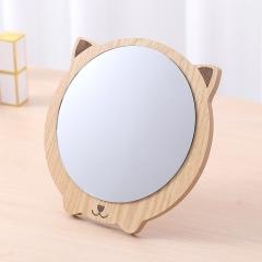木质化妆镜卡通猫咪  60/箱