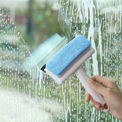 家用二合一玻璃刮清洁刷   300/箱 蓝色 见详情